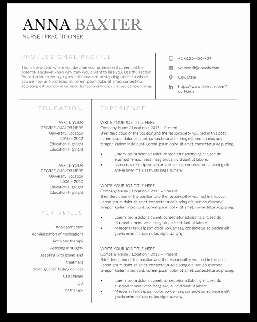 Nursing Student Resume Templates Unique Family Nurse