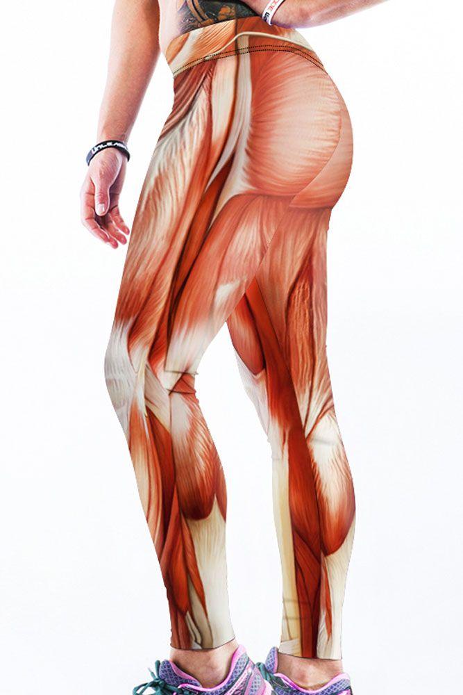 Stretch Muscle 3D Print Yoga Leggings | Anatomía
