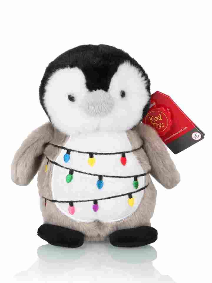 6c9992ddc Penguin Wrapped in Baubles Small 15cm | Clintons | Penguin baby ...