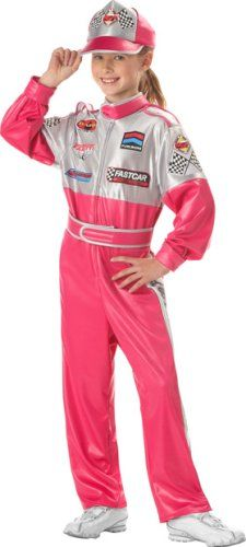 Child S Race Car Driver Girl Costume Medium Delay Gifts Toys