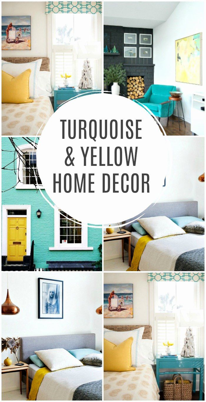 Yellow And Turquoise Bedroom Beautiful Home Decor Inspiration Living Room Blue