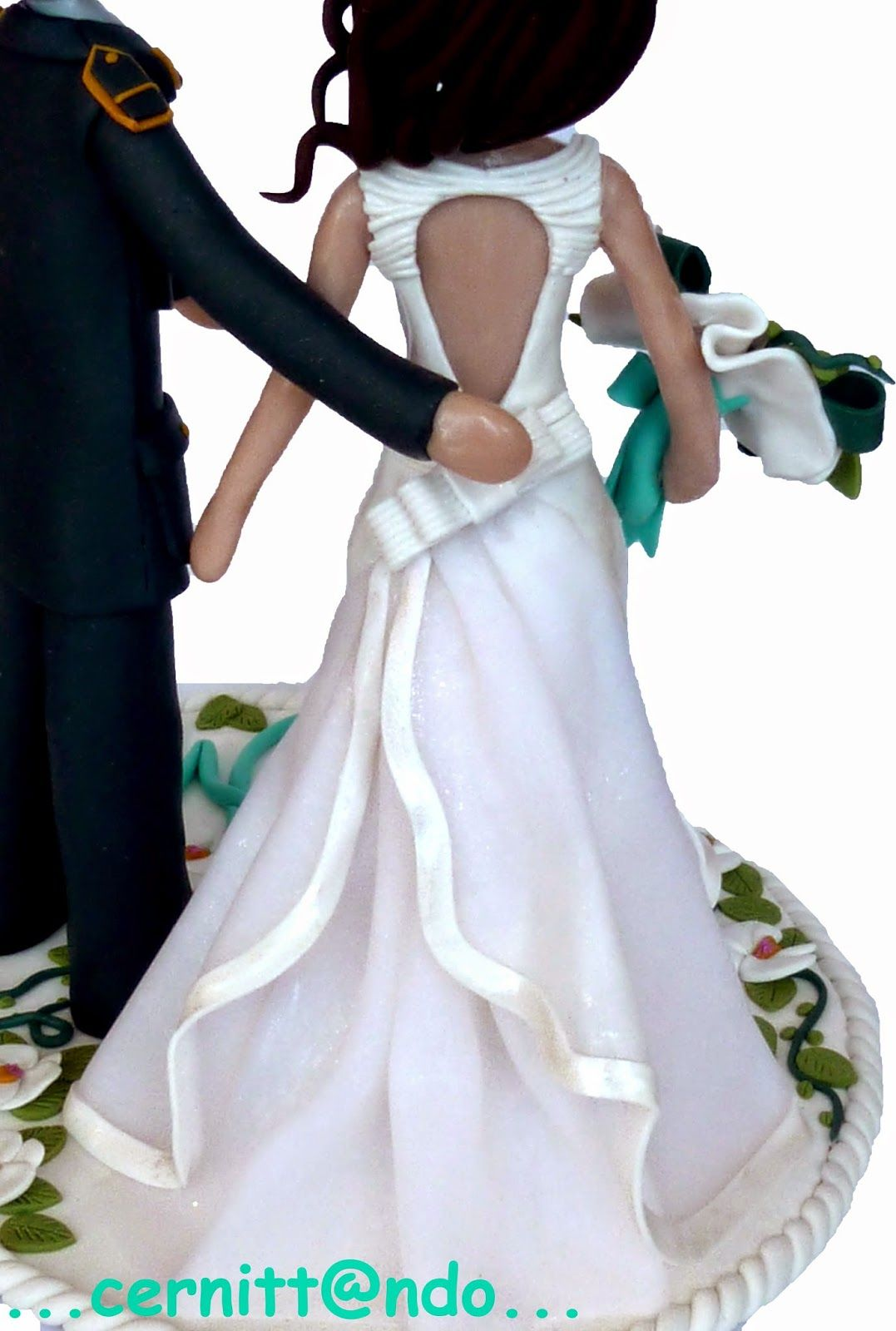 polymer clay wedding cake topper | Notables | Pinterest | Polymer ...