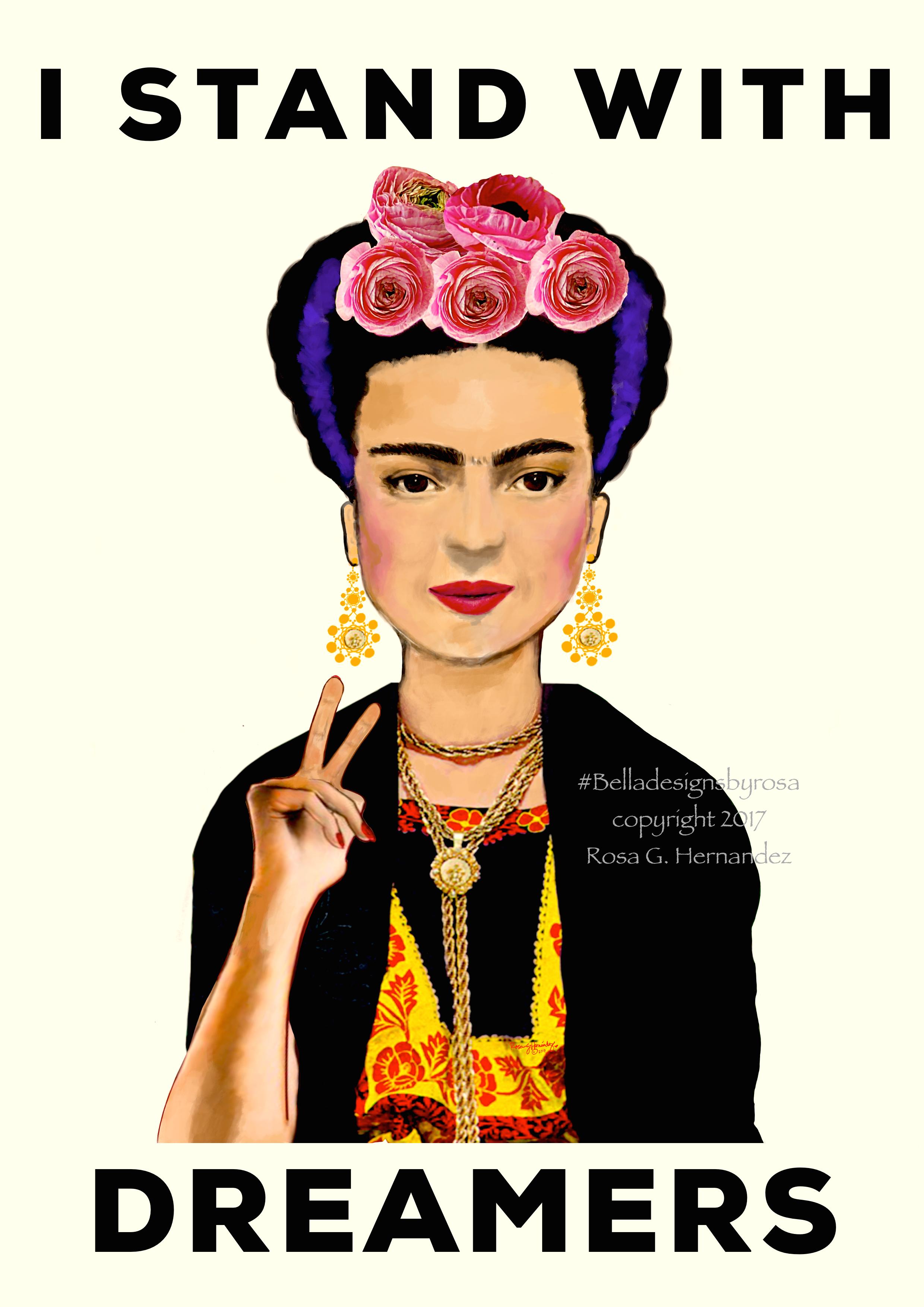 Frida Kahlo Dreamers Daca Santa Cruz Watsonville Sticker Etsy The Dreamers Frida Kahlo Female Artists
