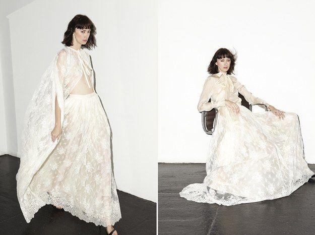 Un look vintage: | 24 Vestidos para novias no convencionales