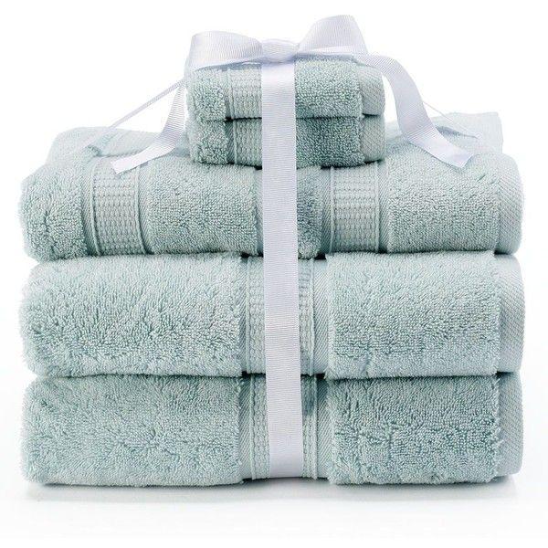 Photo of Kassatex Turkish Cotton 6-pc. Bath Towel Set, Green ($60) ❤ liked on Polyvore…