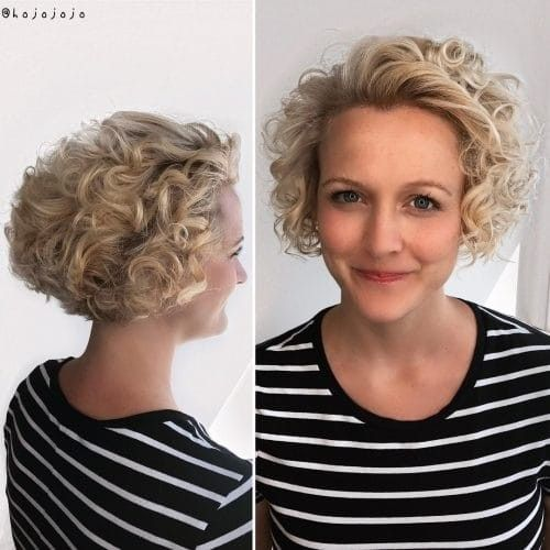 Schone Beste Haarschnitte Fur Runde Gesichter Und Lockiges Haar Neue Haare Modelle Haarschnitt Kurze Lockige Haare Frisuren Haarschnitt Rundes Gesicht