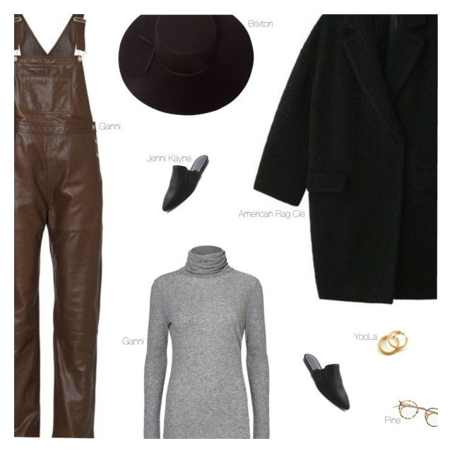 Leather Dungarees by amberelb on Polyvore featuring polyvore fashion style American Rag Cie Jenni Kayne YooLa Brixton