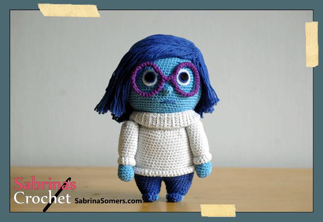 Free Amigurumi Disney Patterns : Sadness inside out free amigurumi crochet pattern amigurumi