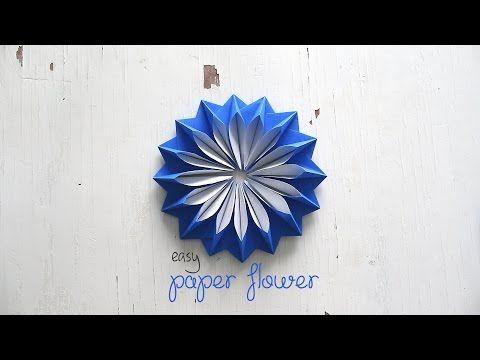 Diy easy paper flower youtube papel de fiesta pinterest diy easy paper flower youtube mightylinksfo