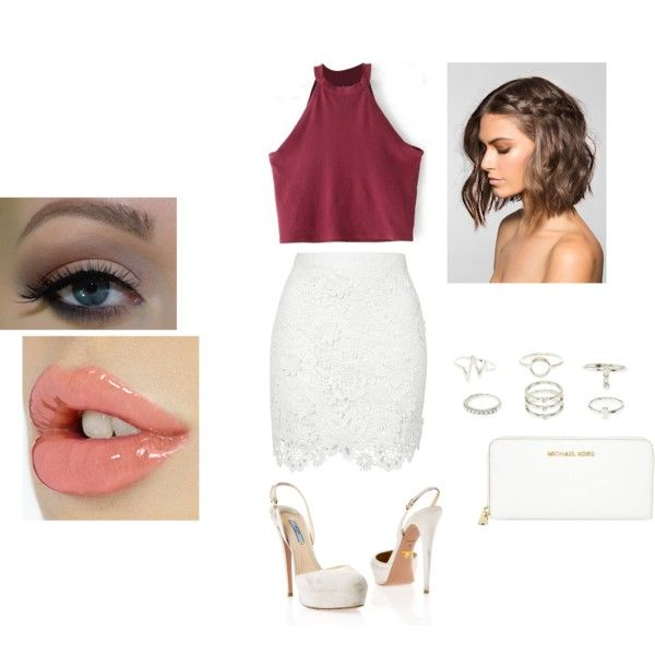Baby, come kiss me quick. by lookalivesunshinex on Polyvore featuring moda, Topshop, Prada, MICHAEL Michael Kors, Charlotte Russe and Ultimate