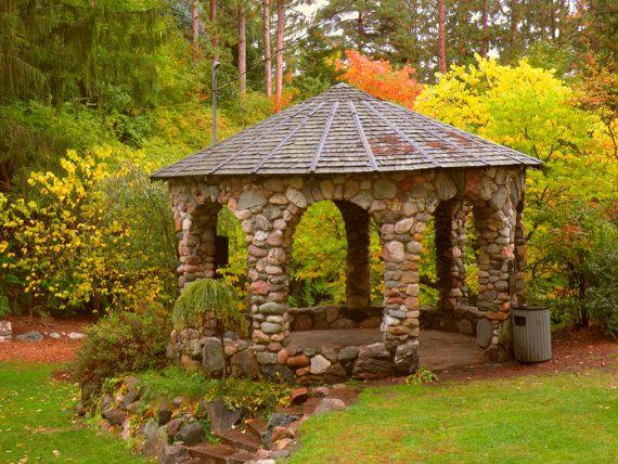 Outdoor Stone Gazebo Outdoor Stone Rustic Garden Furniture Diy