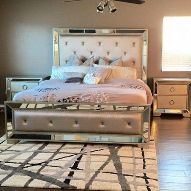 Bedroom bliss creates a glamorous foundation in for Z bedroom furniture