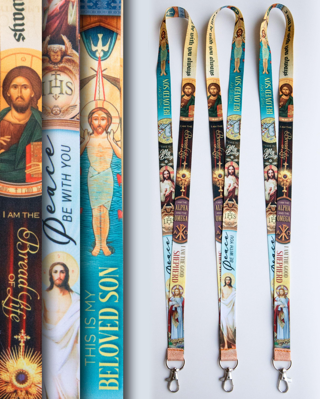Jesus Christ Catholic Lanyard Son of God ID Badge Holder