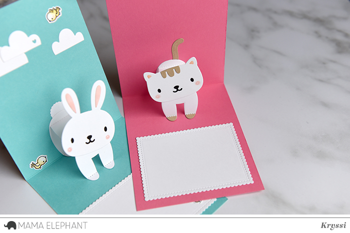 Mama Elephant Design Blog Introducing Lots Of Letters Inside Pop Bunny Cat Video Pop Up Cards Birthday Cards Diy Card Craft