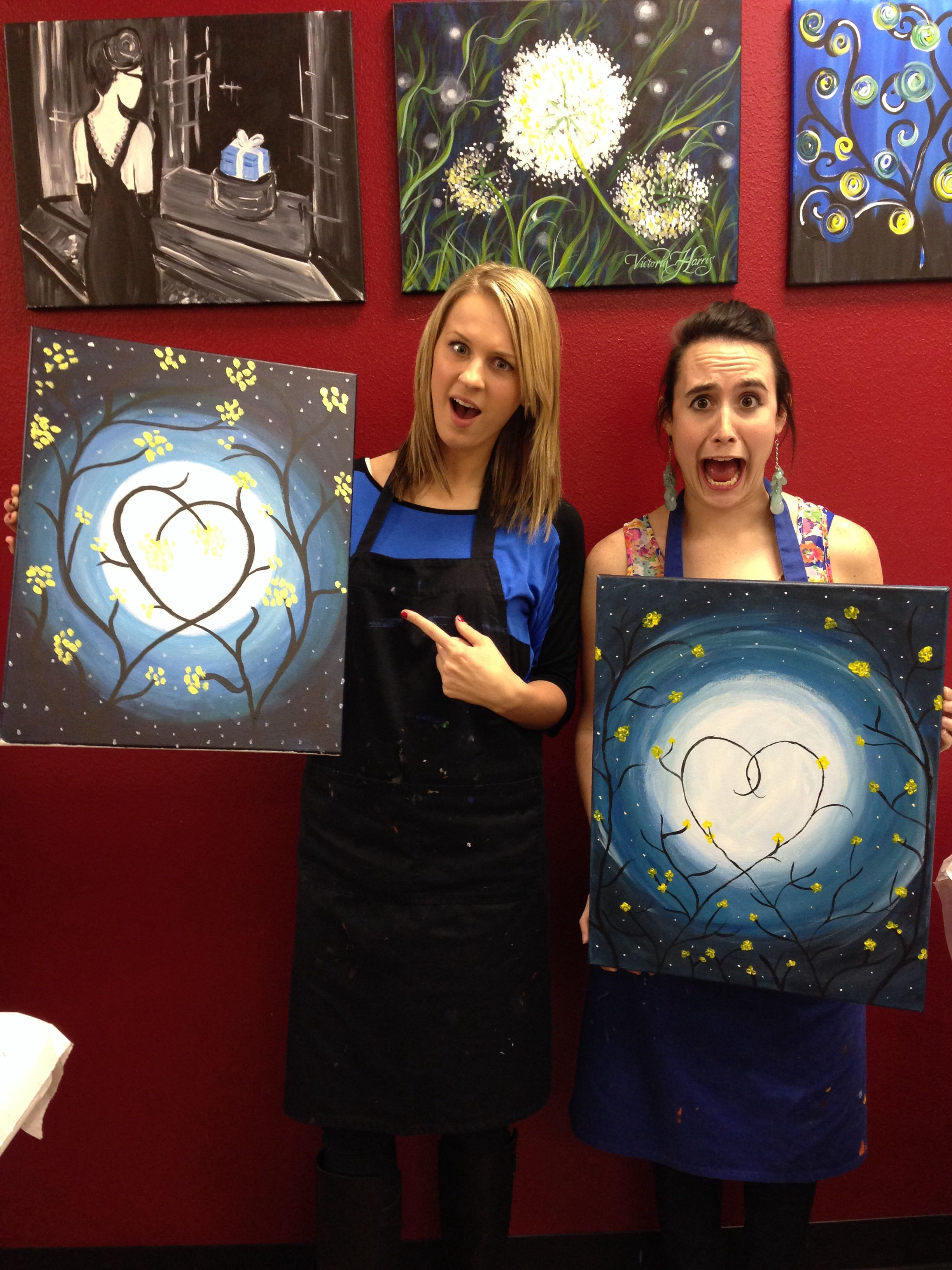Painting with a twist! So easy and so much fun. Ideal for