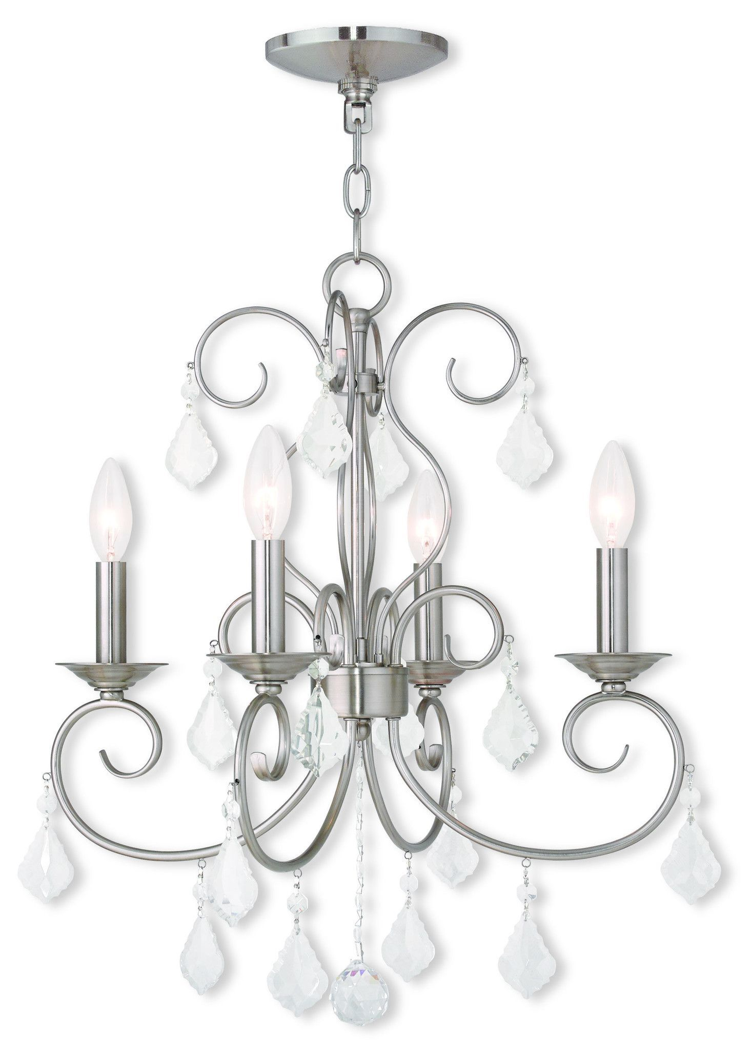 Livex Lighting Donatella Brushed Nickel Mini Chandelier 50764 91