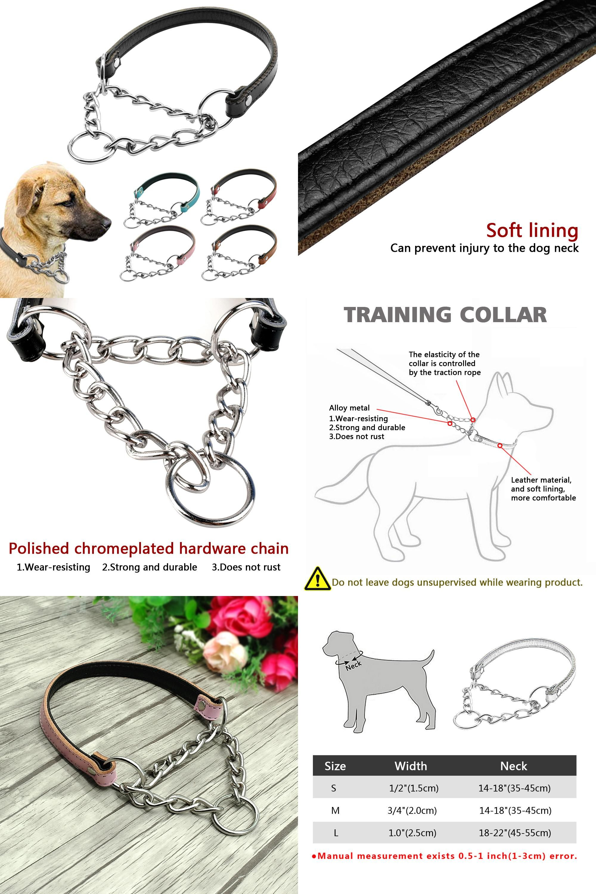 Visit To Buy 5 Colors Martingale Dog Collar Half Choke Chain
