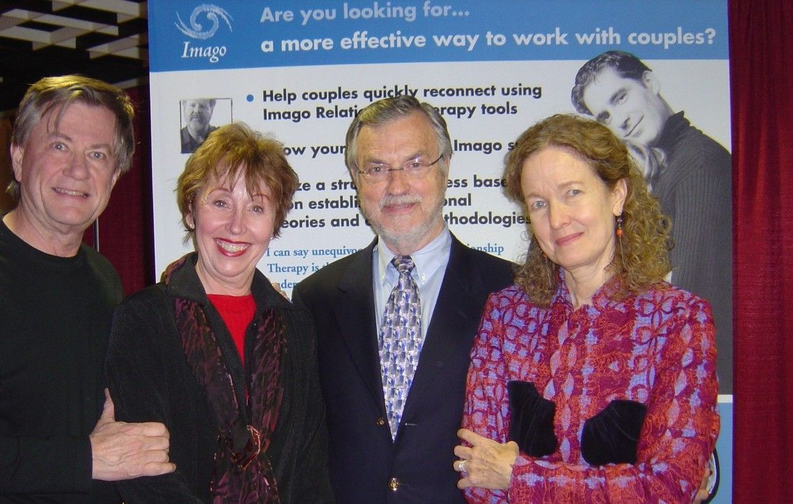 Dr. Harville Hendrix and Dr. Helen LaKelly Hunt with Houston marriage &  couples counseling therapist Peggy Halyard-Wilson and her husband Doug  Wilson in ...