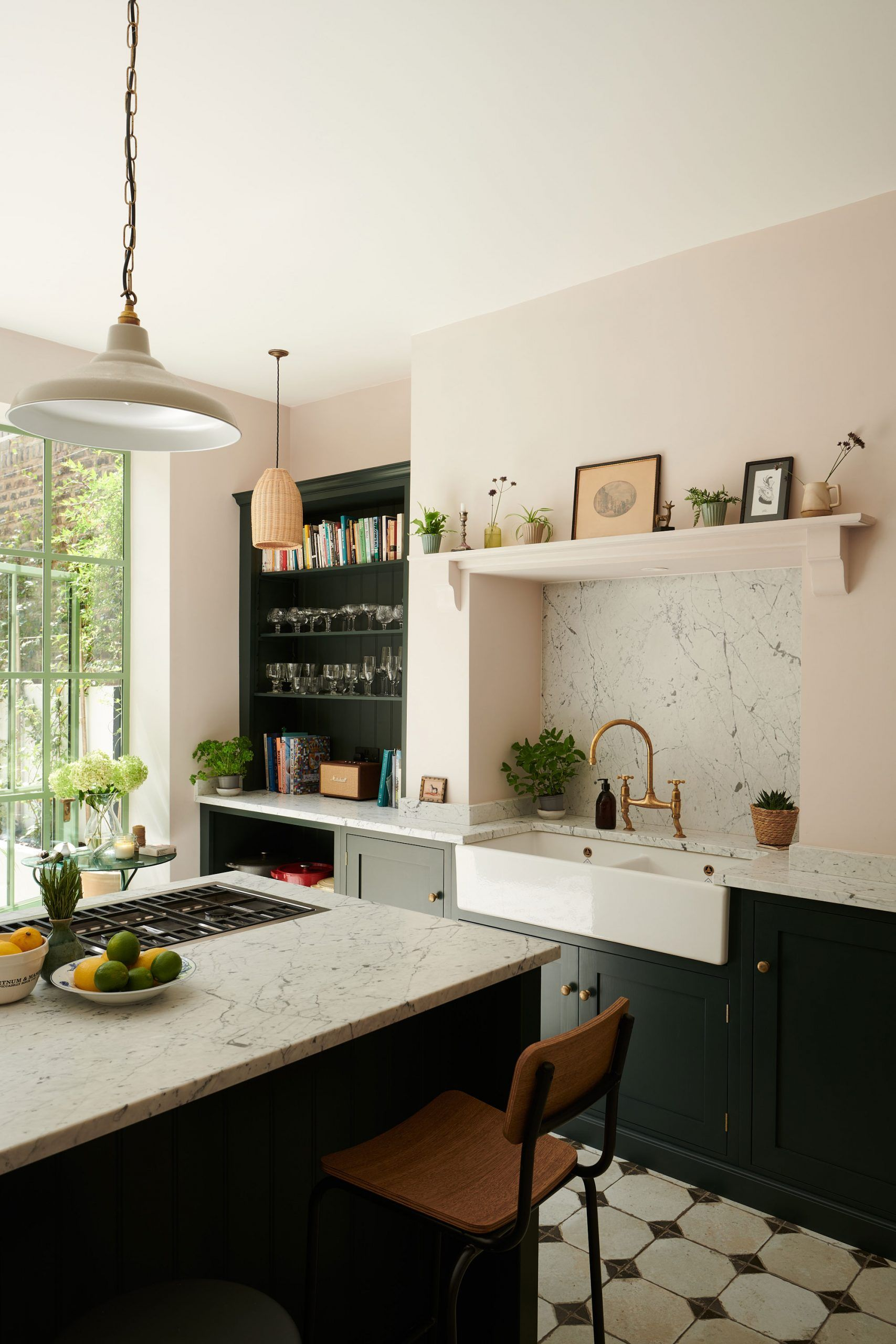 A Provencal Meets Wes Anderson Kitchen Miss Moss In 2020 Kitchen Inspirations Basement Kitchen Provence Kitchen