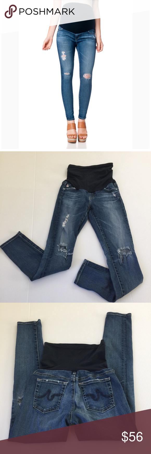 9c8c04764b068 AG Legging Ankle Secret Belly Maternity Jeans, 27 AG Adriano Goldshmied  Legging Ankle Pea in