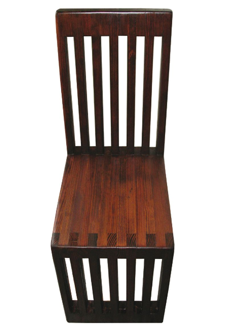 Delicieux Wooden Chair Made From Reclaimed Bowling Lanes
