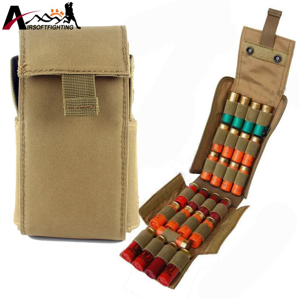 Tactical Ammo Bags Molle 12 Gauge Ammo Shells Shotgun Magazine Pouches Gun Accessory For Hunting Hunting Pouches