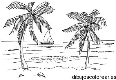 Dibujo De Un Paisaje En La Playa Paisajes Dibujos Como Dibujar Cosas Escenas De Playa