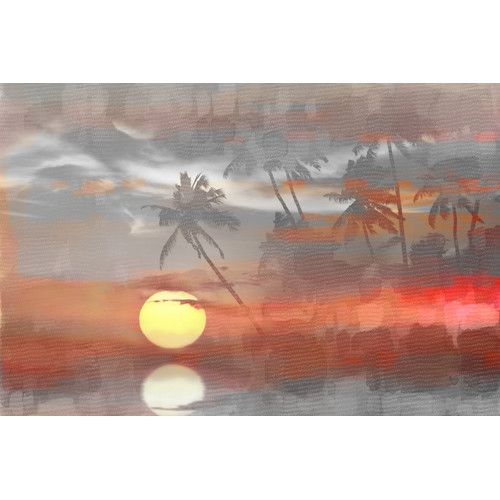 Found it at AllModern - Paradise at Sunset Graphic Art on Wrapped Canvas