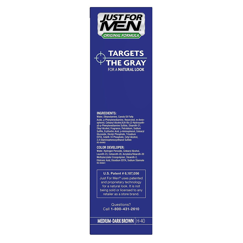Just for men original formula menus hair color medium dark brown