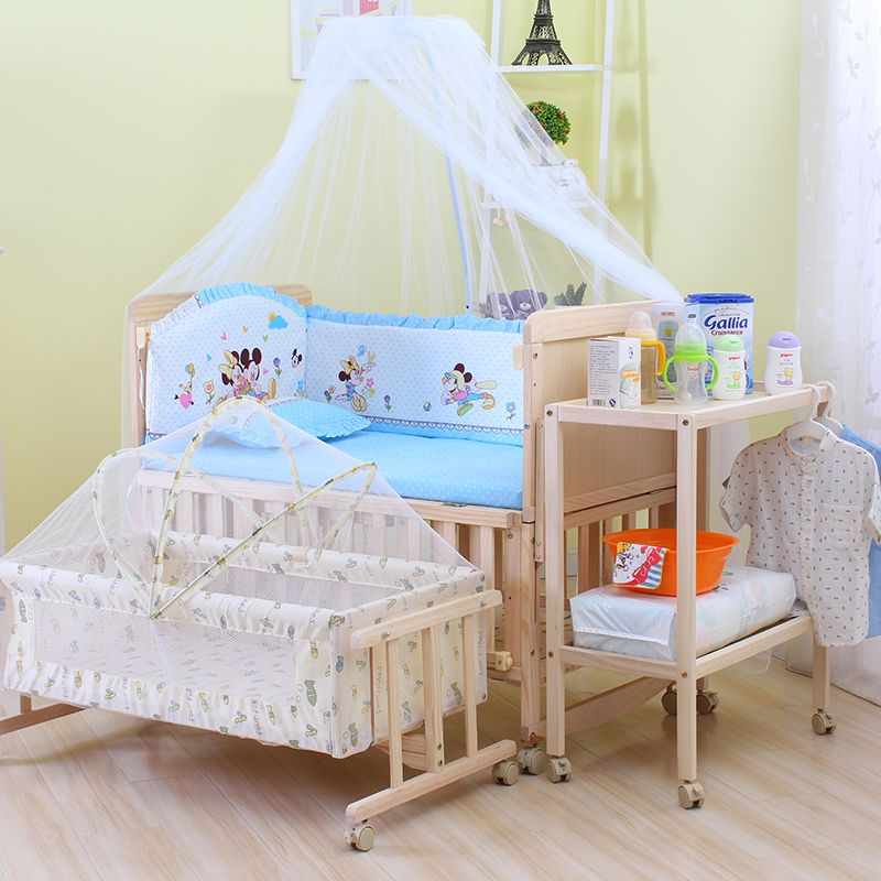 Click To Buy 6in1 Baby Bed Set Height Can Adjust Bed Crib