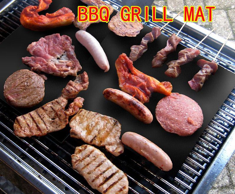 BBQ Grill Mat Non Stick Pad for Gas Easy Bake Cook Grate Cover Baking Sheet New