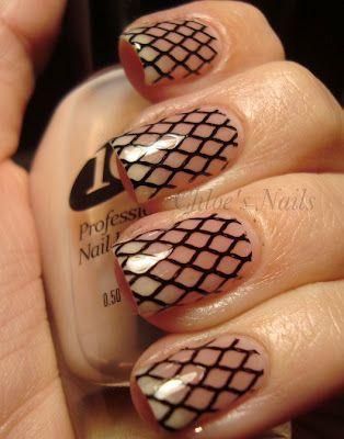 Fishnets #nails #nail_design