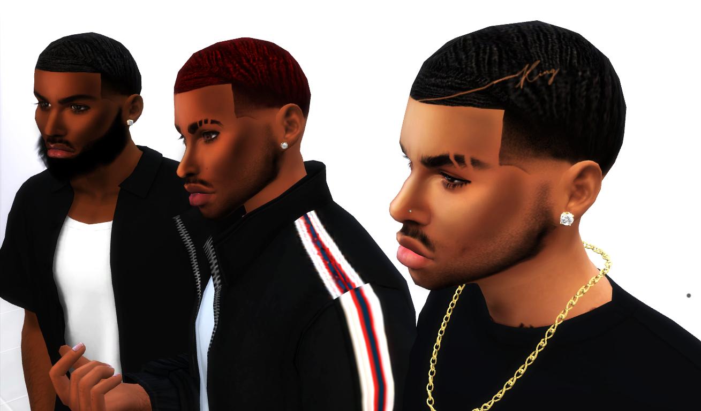 Deep Waves Sims 4 Cc Custom Content Male Hairstyle By Xxblacksims Sims4 Sims4cc Black Sim Sims 4 Hair Male Sims 4 Afro Hair Sims 4 Black Hair