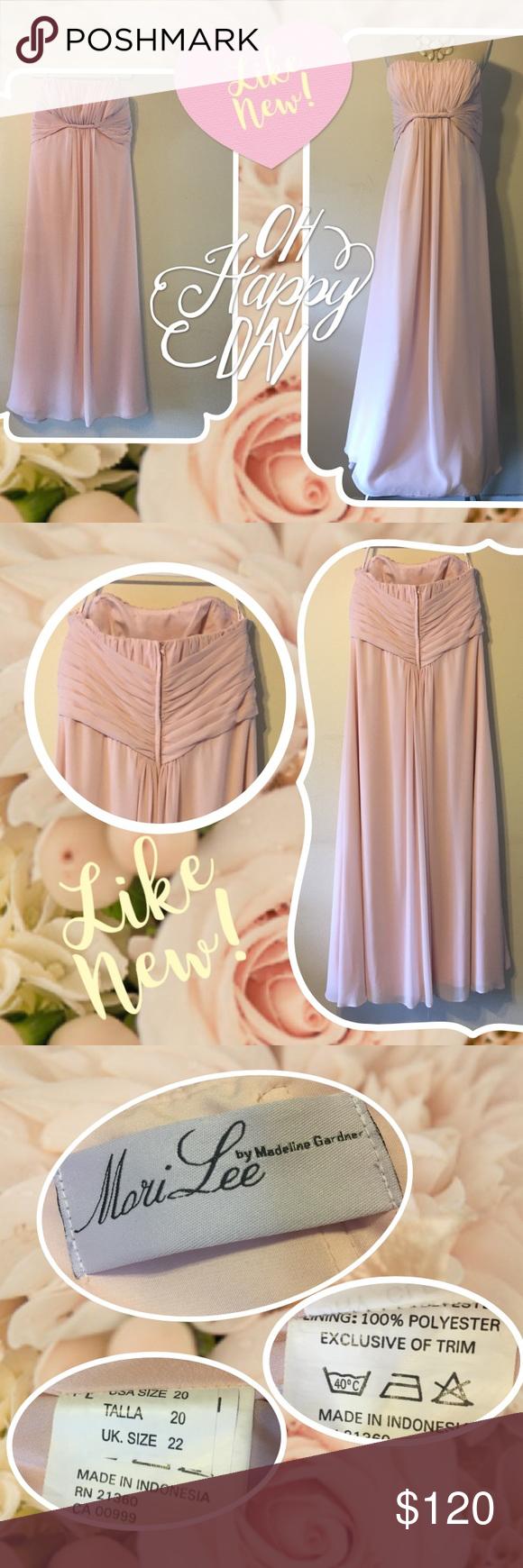 Mori lee blush bridesmaid dress davids bridal mori lee blush