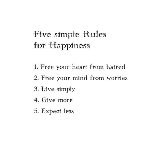 Five rules...