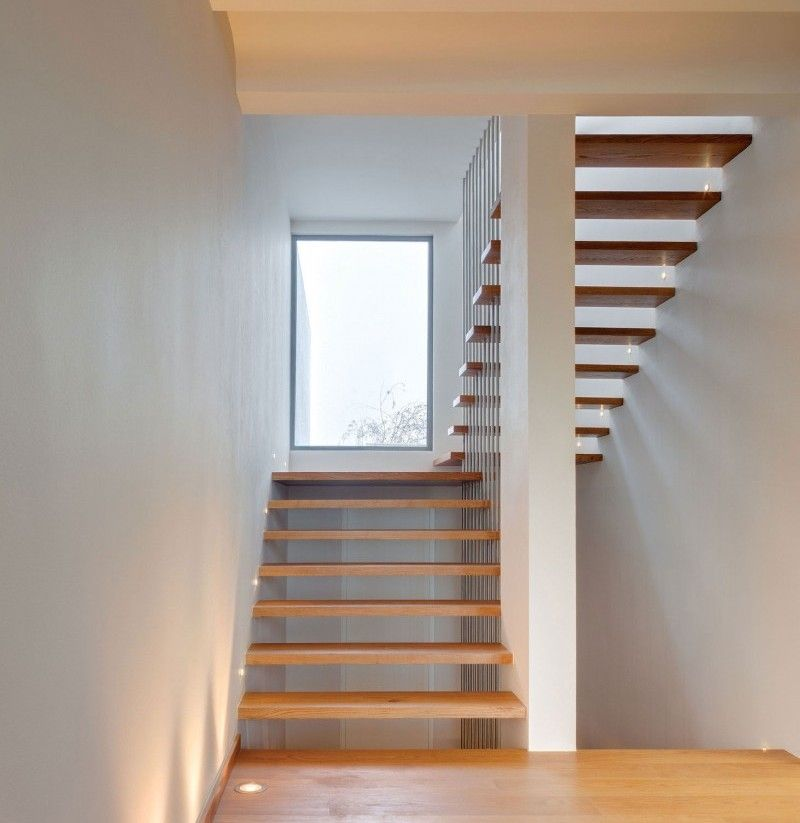 14 Staircases Design Ideas: Wooden Staircase Window Design