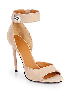 9a0bfec925e8 Givenchy Suede Shark-Lock Sandals  Saks Fifth Avenue. Love this color. I m  definitely ready for Spring!