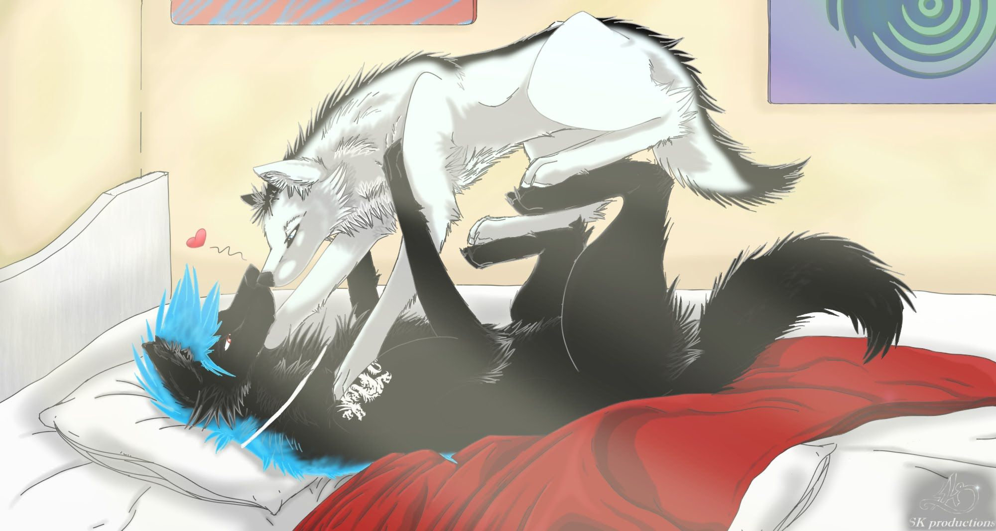 Pin by luna woolf on lobos anime pinterest anime wolf - Anime wolves in love ...