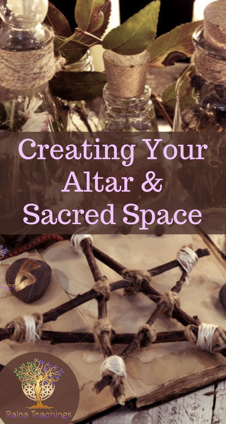 Creating Your Altar and Sacred Space #wiccandecor