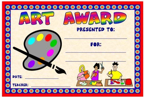 art and music award certificates art teacher pinterest