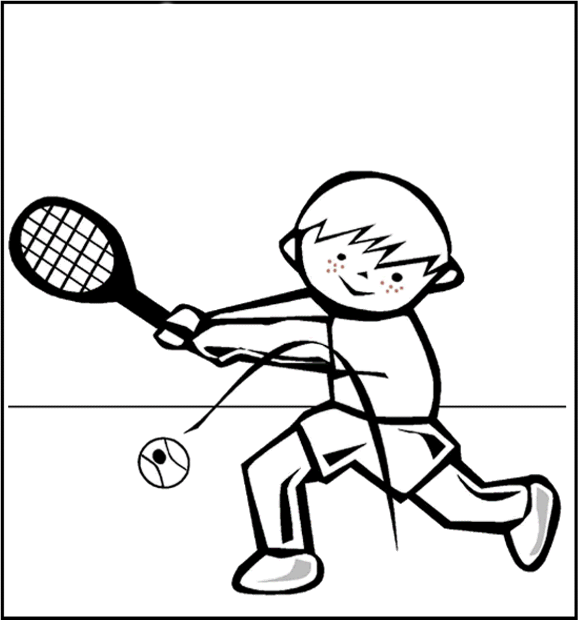 Hitting A Tennis Ball Coloring Pages For Kids Bfy Printable Tennis Coloring Pages For Kids Sports Coloring Pages Coloring Pages Colouring Pages