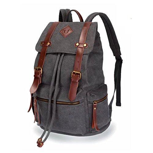 Vintage Canvas Backpack Rucksack School Travel Daypack Laptop Shoulder Bag New