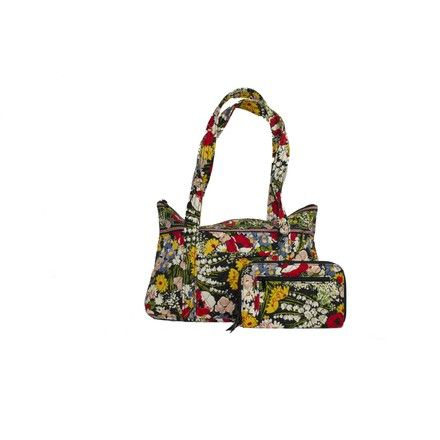 d54498ca2ad5 Save 33% on the Vera Bradley Poppy Field Tote (Retired) Black Multi Cotton  Weekend Travel Bag! This travel bag is a top ...