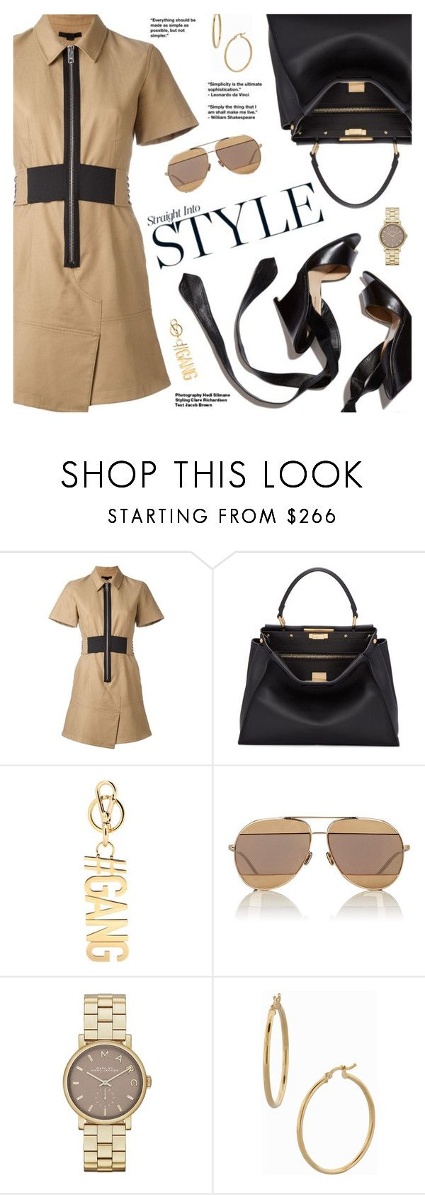 """""""Straight Into Style"""" by pokadoll ❤ liked on Polyvore featuring Alexander Wang, Fendi, Givenchy, Hedi Slimane, Christian Dior, Marc Jacobs, Bony Levy, polyvoreeditorial and polyvoreset"""