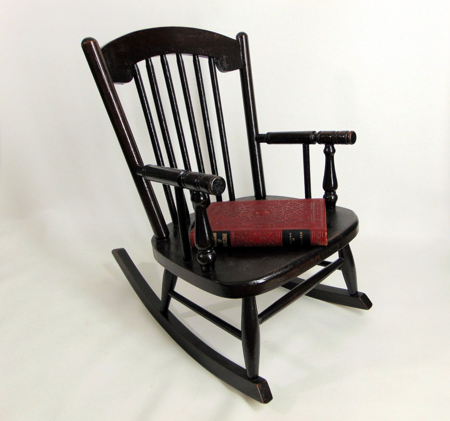 $222.00 SALE was 395 antique 1919 Heywood Wakefield Childs Spindle Boston  Rocker Windsor Rocking Chair Marshall - $222.00 SALE Was 395 Antique 1919 Heywood Wakefield Childs Spindle