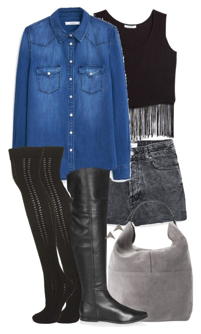 """""""Malia Inspired Outfit from Requested Stores"""" by veterization ❤ liked on Polyvore featuring MANGO and Topshop"""