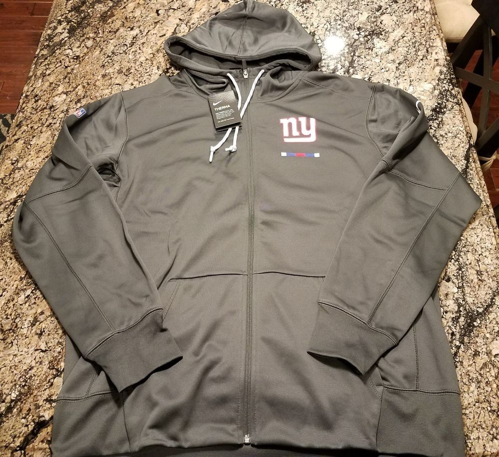 new styles eb01a 00a2b Nike New York Giants Hoodie Full Zip Grey Blue Size XL NFL ...