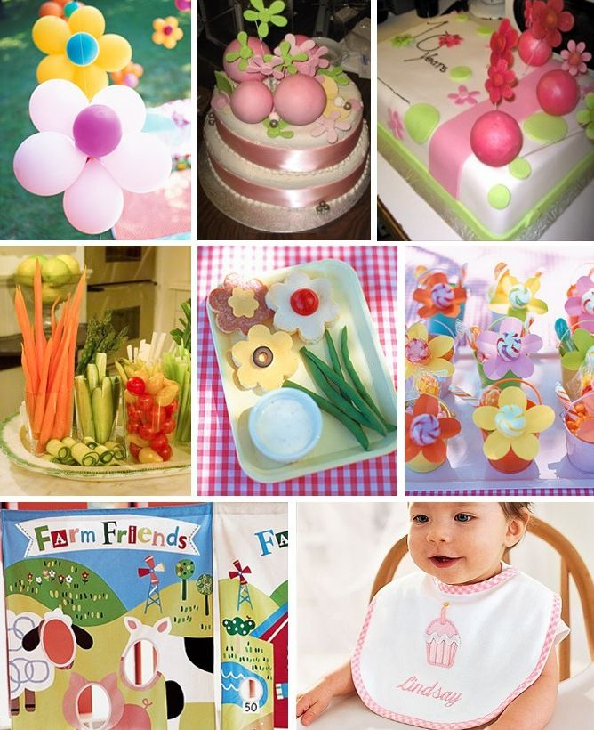 1st Birthday Decoration Ideas At Home Part - 48: First Birthday Party Ideas For A Girl At Home With Kim Vallee Garden Birthday  Party Decoration Ideas