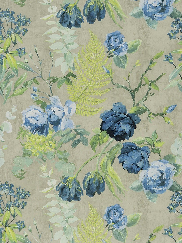 Designers Guild Tulipani Wallpaper Graphite Pdg67801