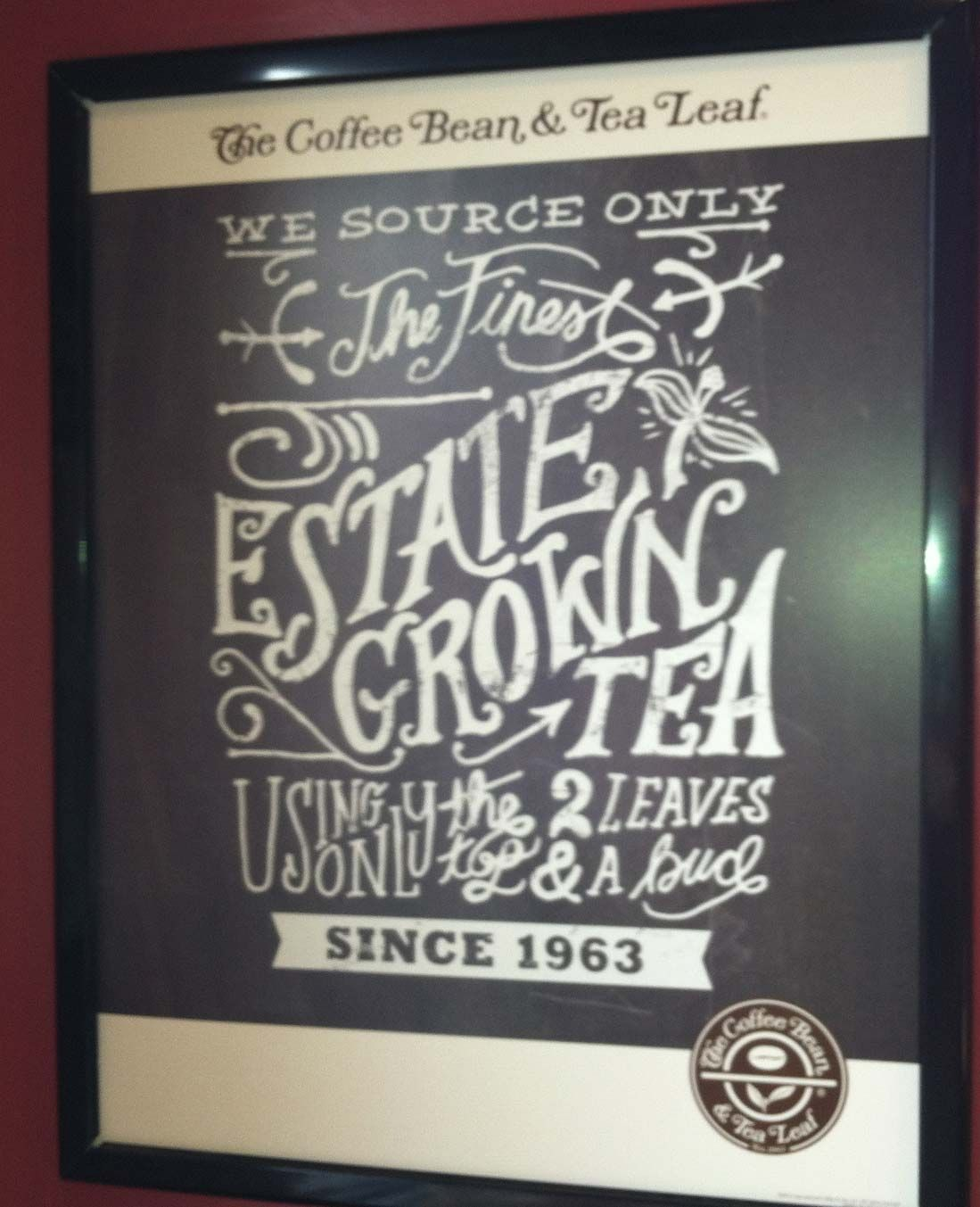 Coffee Bean & Tea Leaf wall sign Tea leaves, Coffee